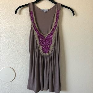 Charlotte Russe brown and purple unique tank top
